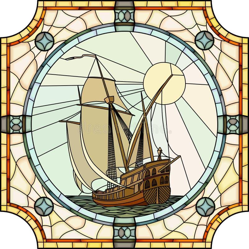 Illustration des bateaux de navigation du XVIIème siècle. illustration libre de droits