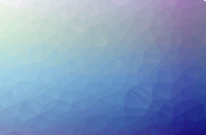 Illustration des blauen abstrakten polygonalen schönen Mehrfarbenhintergrundes lizenzfreie abbildung