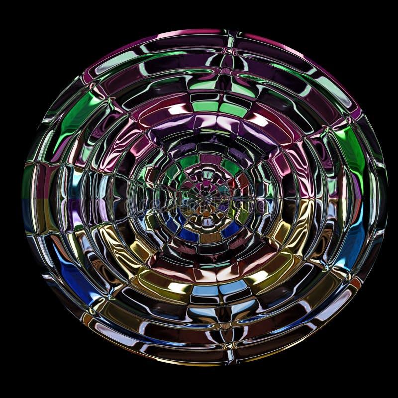 Illustration des bunten Glasfensters lizenzfreie abbildung