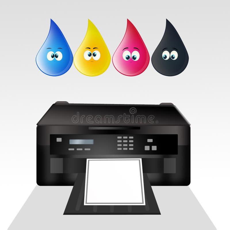 Illustration des cartouches d'imprimante illustration stock