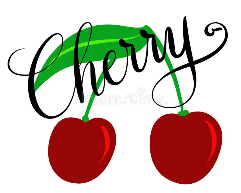 Illustration des cerises illustration stock