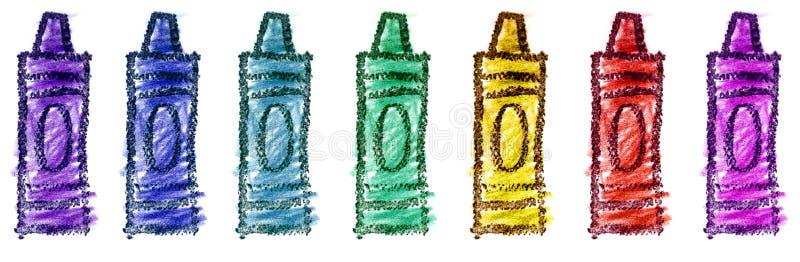 Illustration des crayons des enfants illustration stock
