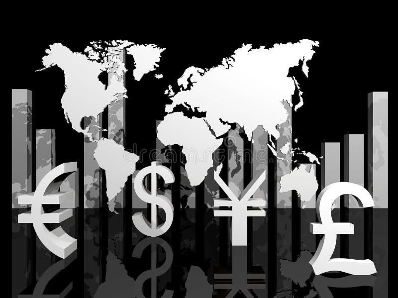 Illustration des devises commerciales autour du monde illustration libre de droits