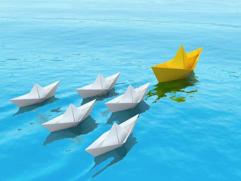 Illustration des Führungskonzeptes 3D lizenzfreie stockfotos