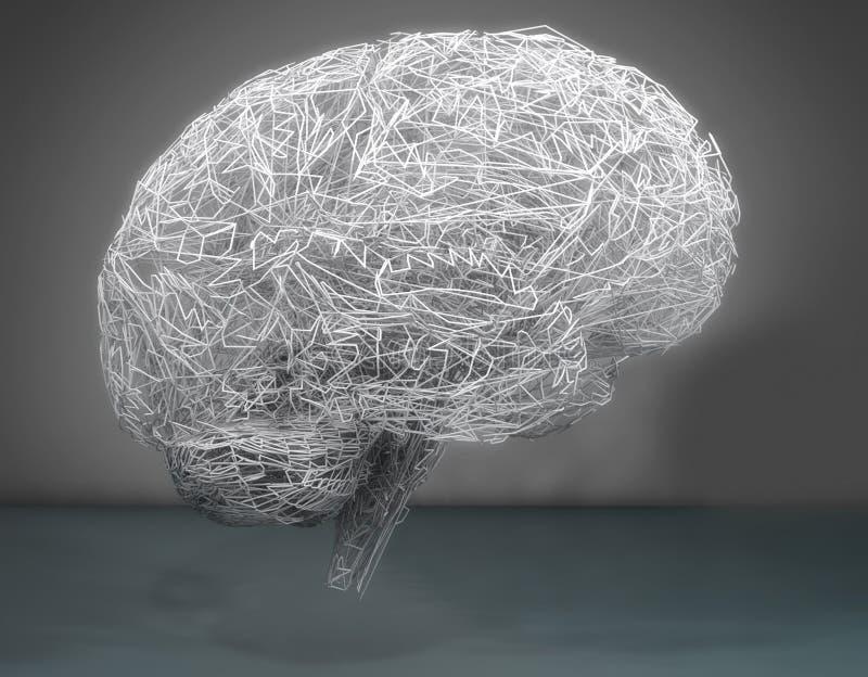 Illustration des Gehirns 3d vektor abbildung
