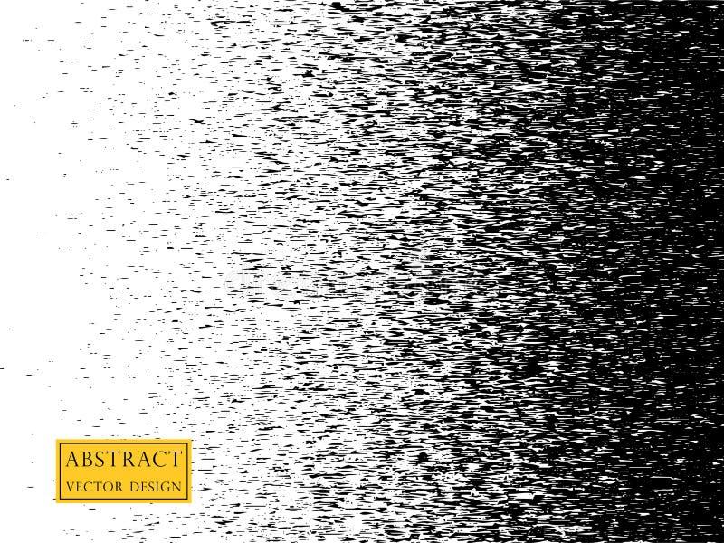 Illustration des Geräuschmusters verschwindet Kleine unscharfe horizontale Partikel schablone Element auf lokalisiertem Hintergru stock abbildung