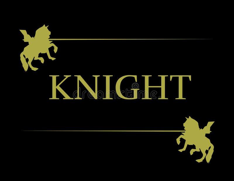 Illustration des goldenen Ritters lizenzfreie stockbilder