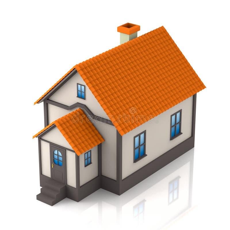 Illustration des Hauses 3d lizenzfreies stockfoto