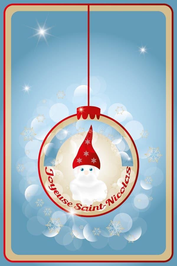 Illustration des Heiligen Nicholas Day lizenzfreie abbildung
