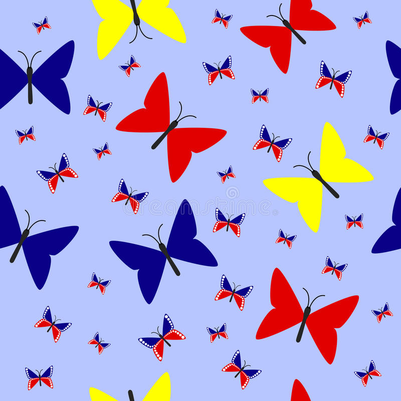 Illustration des hellen nahtlosen Musters lizenzfreies stockbild