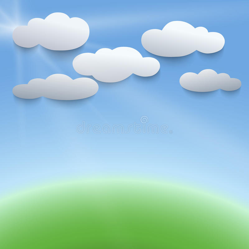 Illustration des Himmels 3d und der Wolken stock abbildung