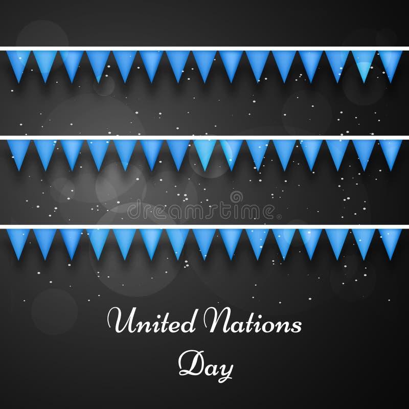 Illustration des Hintergrundes der Vereinten Nationen Tages lizenzfreie abbildung