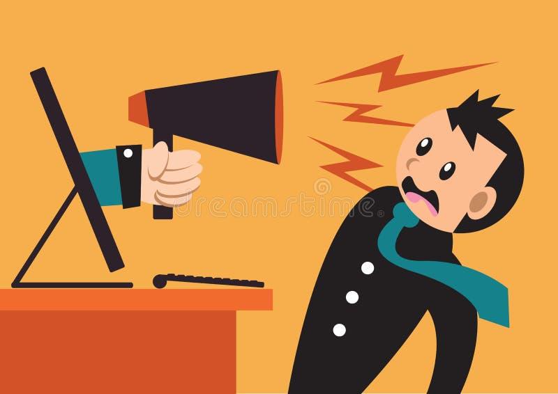 Illustration des hommes d'affaires choqués illustration de vecteur