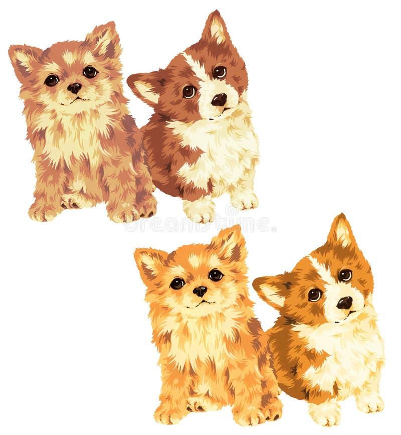 Illustration des Hundes lizenzfreie abbildung