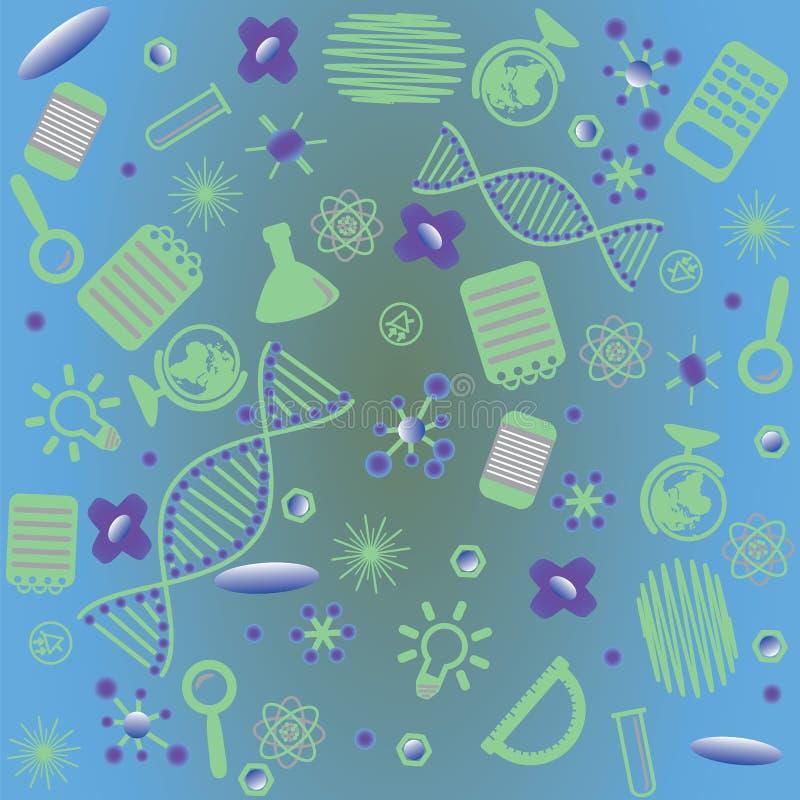 Illustration des instruments scientifiques et des objets illustration libre de droits