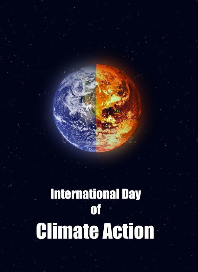 Illustration des internationalen Tages der Klima-Aktion stock abbildung