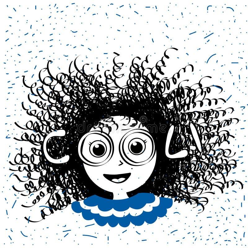 Illustration des kühlen Textes für Mädchenkleidung Slogankinder drucken für T-Shirt oder anderes Gebrauchst-shirt Grafikgewebe vektor abbildung