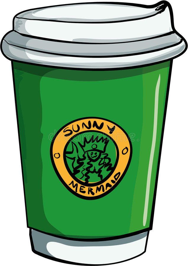 Illustration des Kaffeehaus Takeawaykaffees vektor abbildung