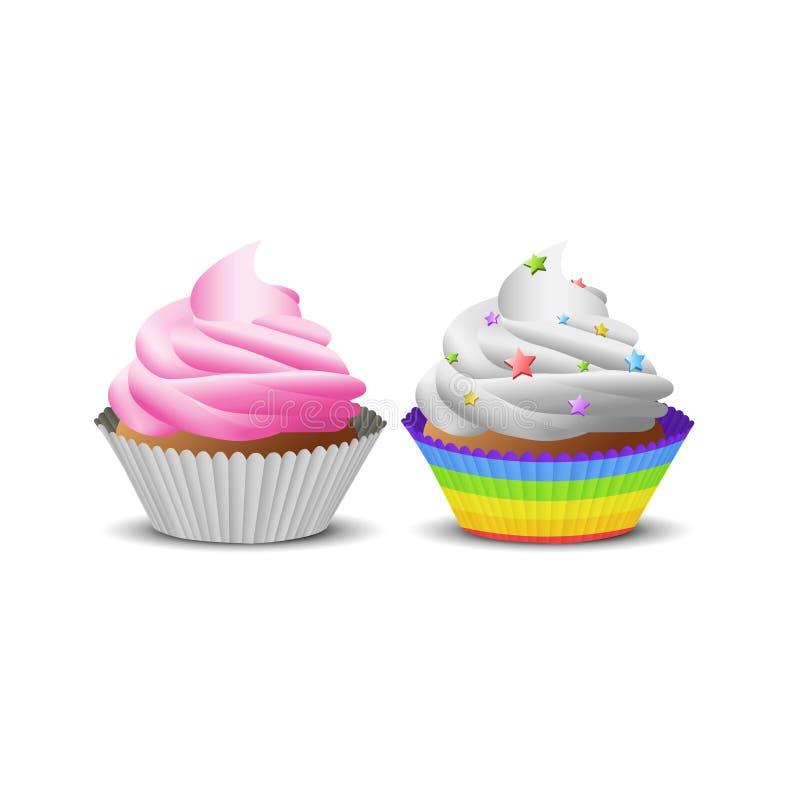 Illustration des kleinen Kuchens stockfotografie