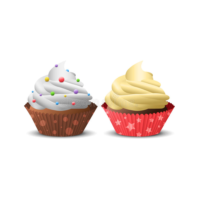 Illustration des kleinen Kuchens stockbild