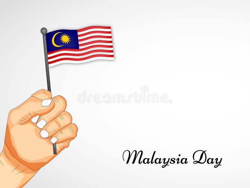 Illustration des Malaysia-Unabhängigkeitstaghintergrundes stockbild