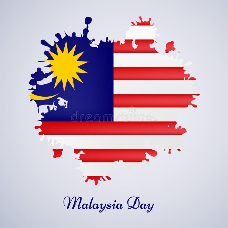 Illustration des Malaysia-Unabhängigkeitstaghintergrundes lizenzfreies stockbild