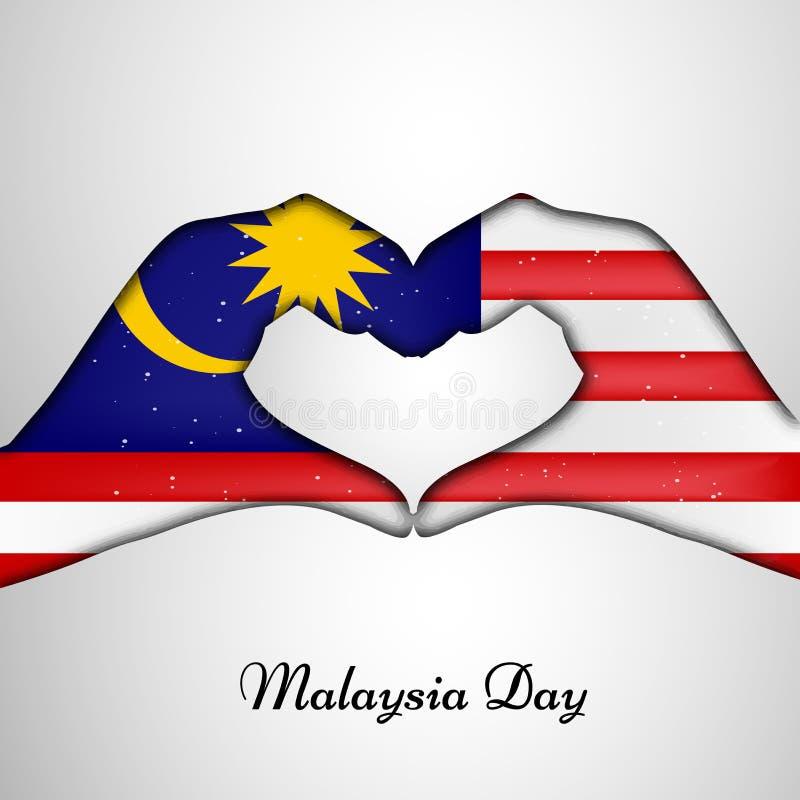 Illustration des Malaysia-Unabhängigkeitstaghintergrundes vektor abbildung