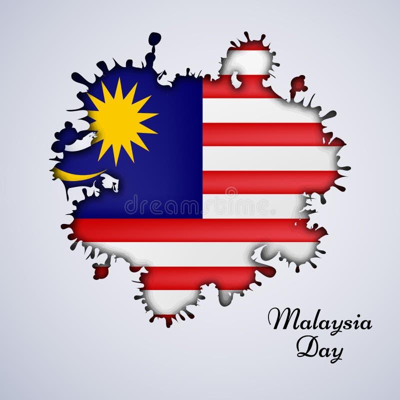 Illustration des Malaysia-Unabhängigkeitstaghintergrundes lizenzfreie stockfotografie