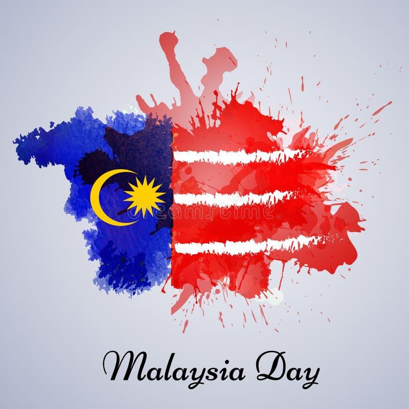 Illustration des Malaysia-Unabhängigkeitstaghintergrundes stock abbildung
