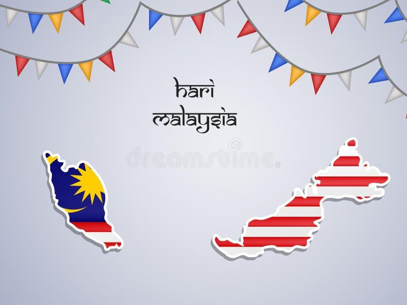 Illustration des Malaysia-Unabhängigkeitstaghintergrundes lizenzfreie abbildung