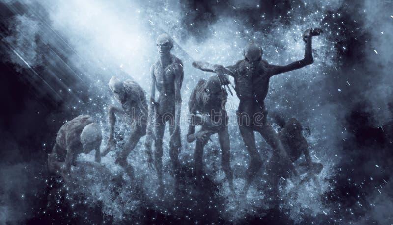 Illustration des monstres 3D de démons illustration libre de droits