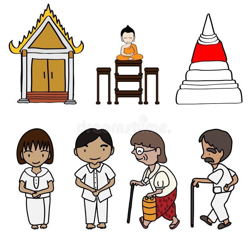 Illustration des netten Buddhismus lizenzfreie abbildung