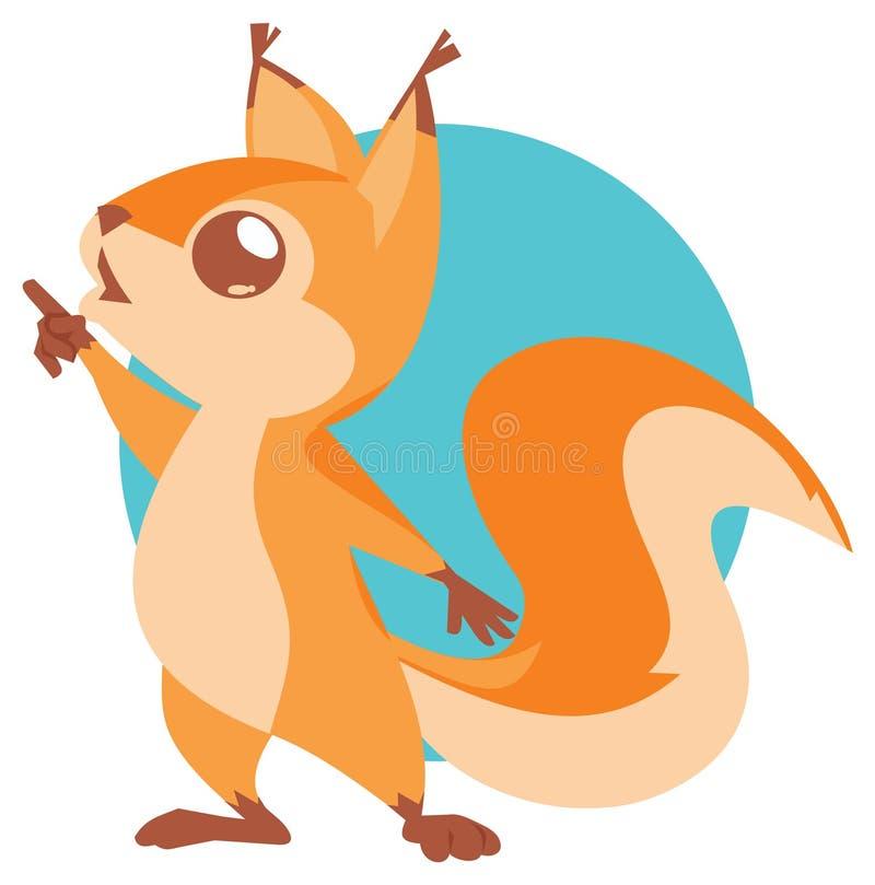 Illustration des netten Eichhörnchens stock abbildung