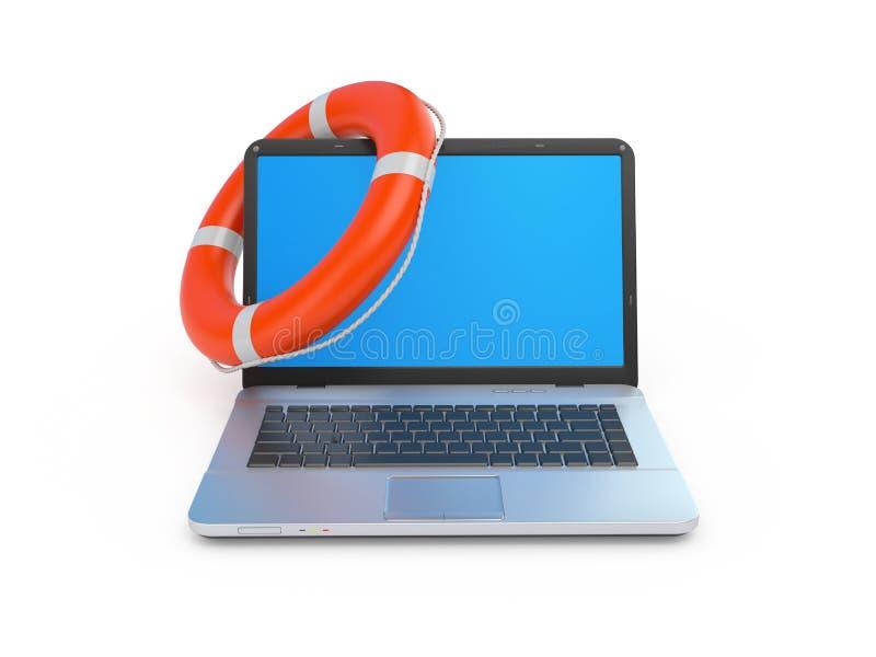 Illustration des Online-Hilfe-Konzeptes 3d stockfotos