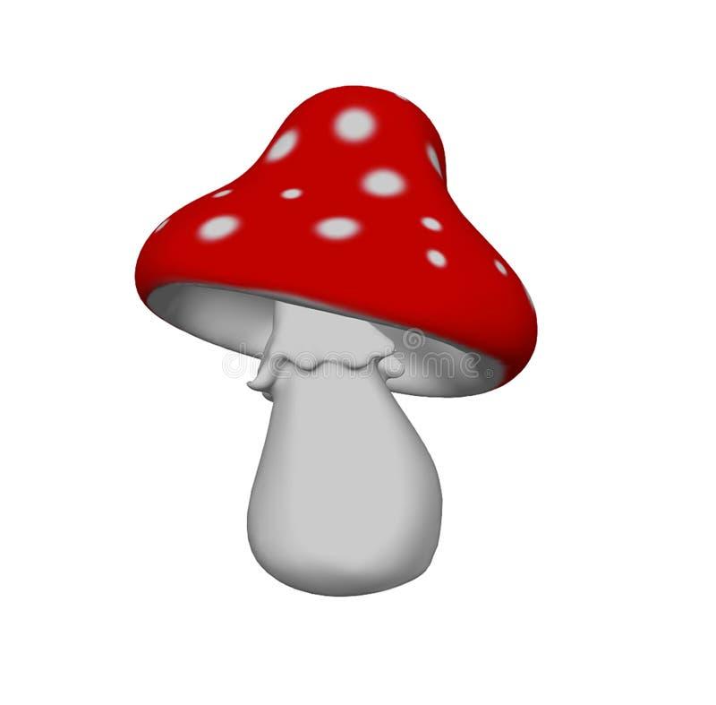 Illustration des Pilzwulstlings 3D lokalisiert auf Weiß stock abbildung