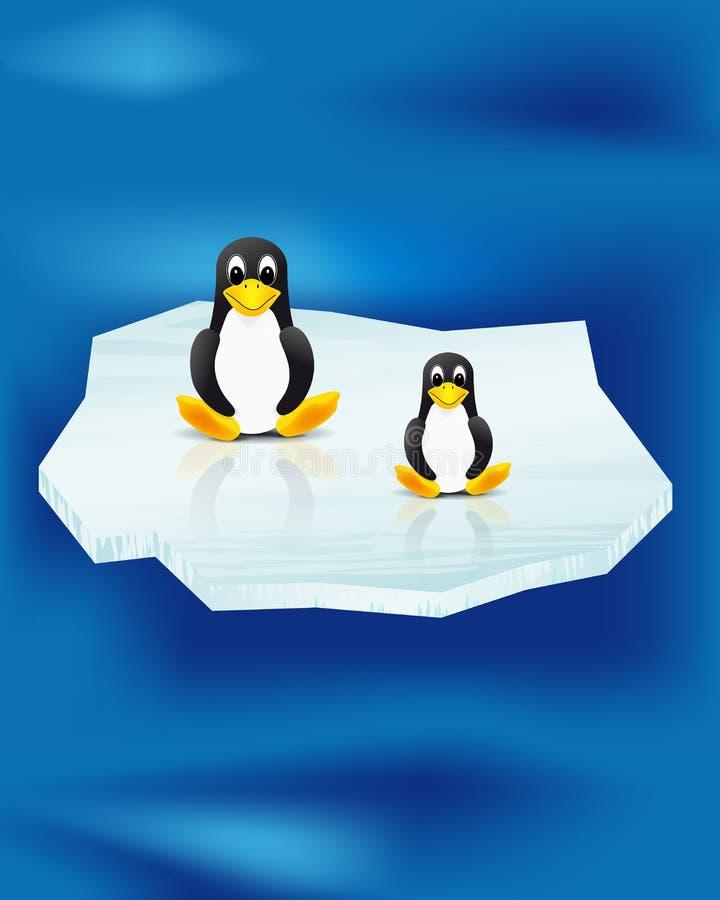 illustration des pingouins sur la banquise illustration de vecteur image 18313337. Black Bedroom Furniture Sets. Home Design Ideas