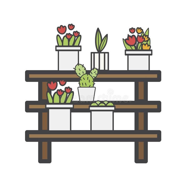 Illustration des pots d'usine d'isolement illustration stock