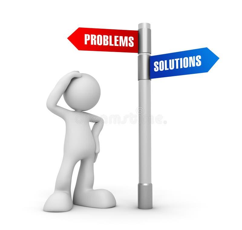 Illustration des Problemlösungs-Konzeptes 3d lizenzfreie abbildung