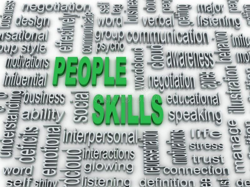 Illustration des qualifications de personnes illustration libre de droits
