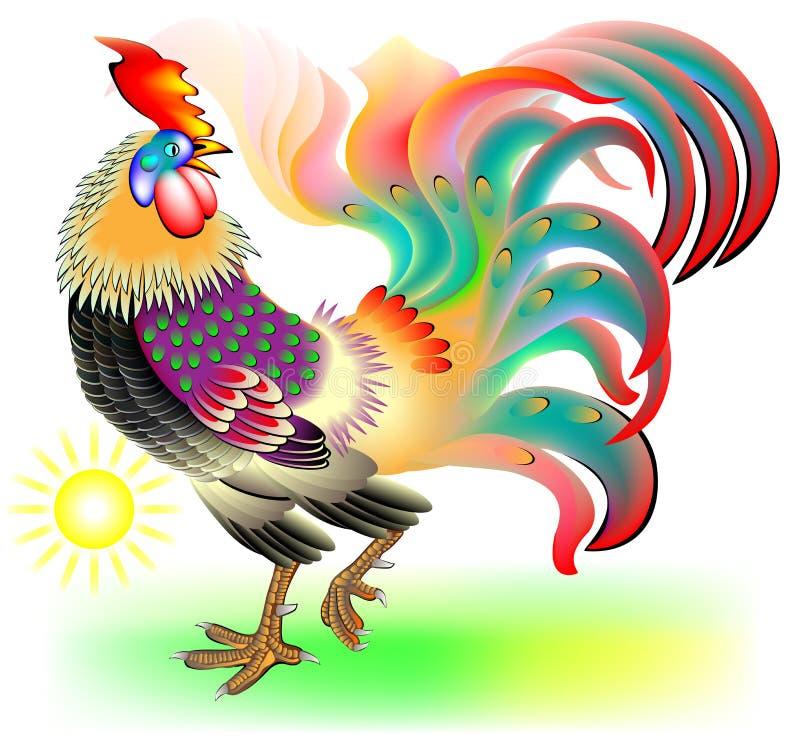 Illustration des schönen Hahnes vektor abbildung