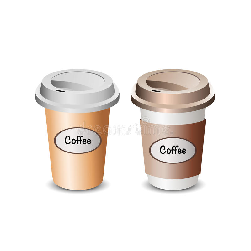 Illustration des Schalenkaffees lizenzfreie stockfotos
