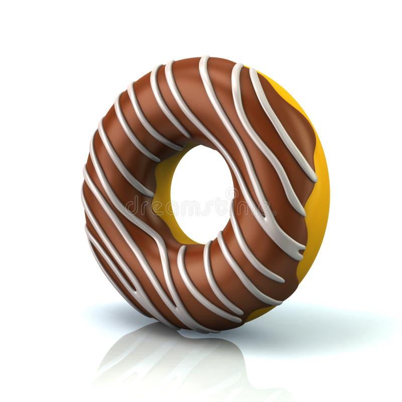 Illustration des Schokoladendonuts 3d lizenzfreie abbildung