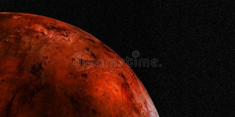Illustration des Sciencefictions-Raum-Hintergrund-3D Extrem ausführliche und realistische hohe Auflösung Geschossen vom Raum Elem lizenzfreie abbildung