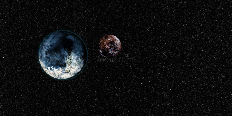Illustration des Sciencefictions-Raum-Hintergrund-3D Extrem ausführliche und realistische hohe Auflösung Geschossen vom Raum Elem vektor abbildung