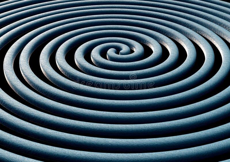 Illustration des vagues de la gravité photos stock