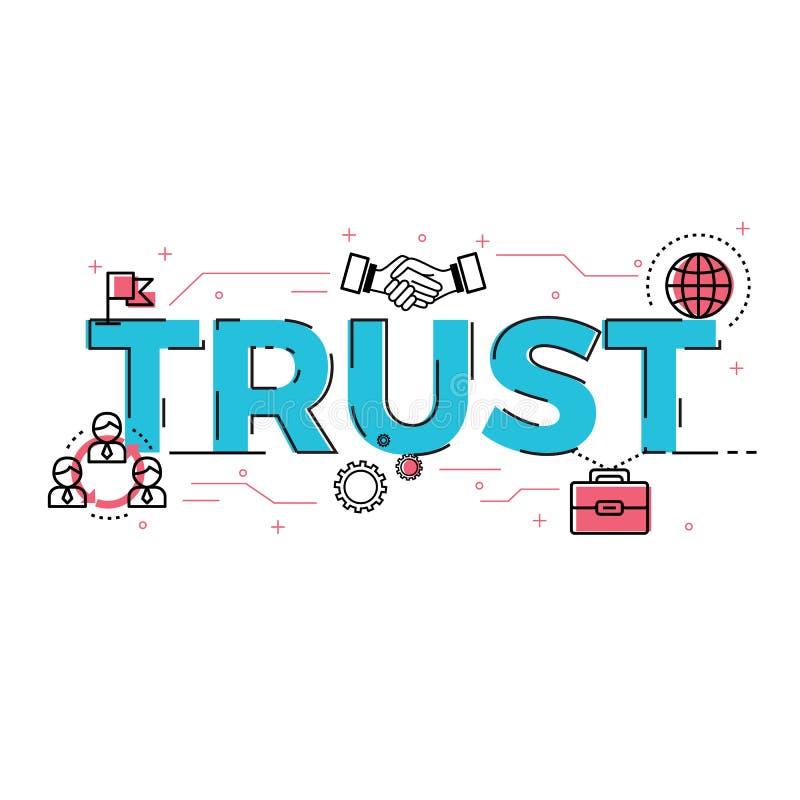 Illustration des Vertrauensbenennungskonzeptes lizenzfreie abbildung