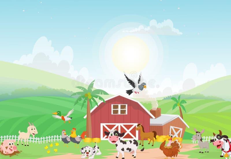 Download Illustration Des Viehs Mit Hintergrund Vektor Abbildung - Illustration von truthahn, ziege: 96933634