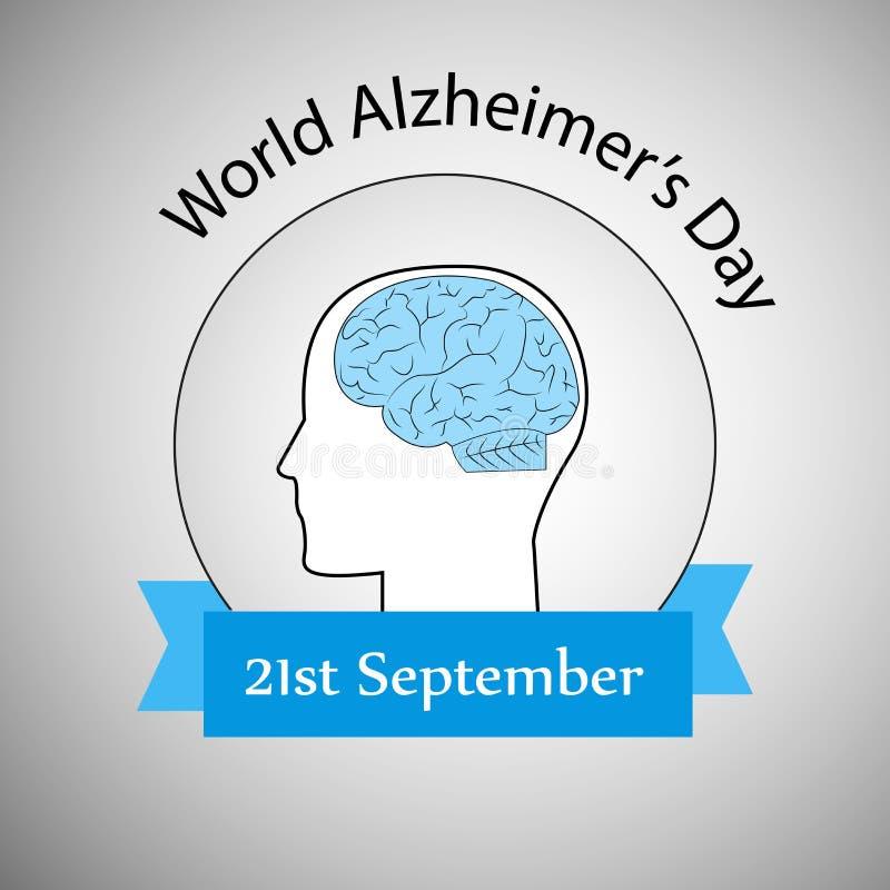 Illustration des Welt-Alzheimer-` s Tageshintergrundes vektor abbildung