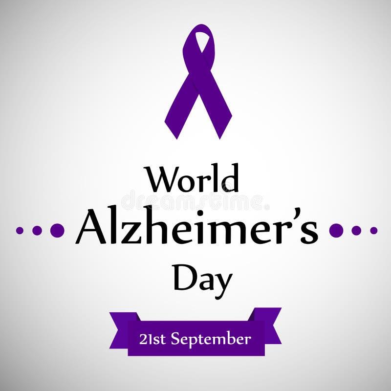 Illustration des Welt-Alzheimer-` s Tageshintergrundes stock abbildung