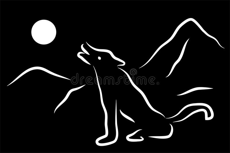 Illustration des Wolfs stockfoto